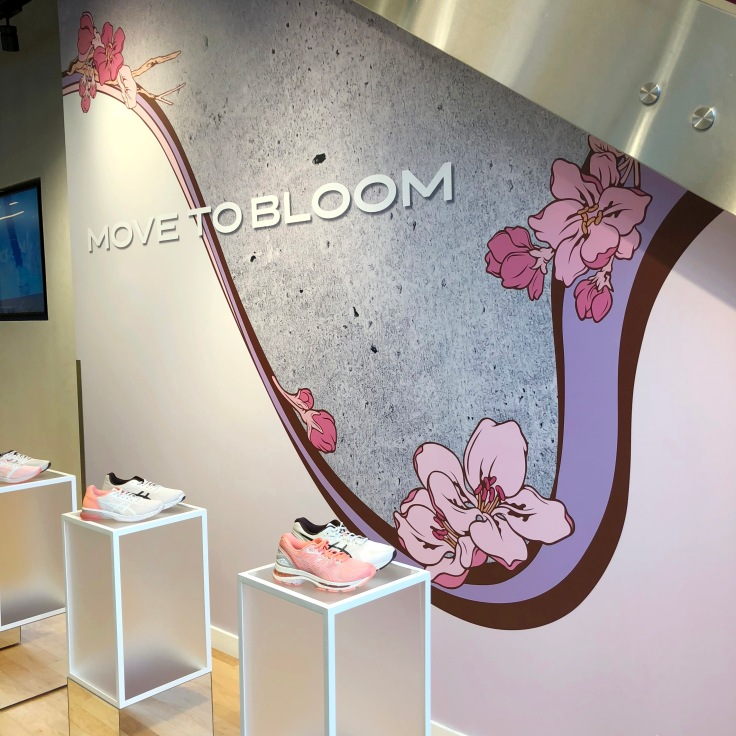 Asics Move to Bloom Wall Graphics